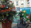 Pedałuj na rowerze i zapal lampki na świątecznej choince