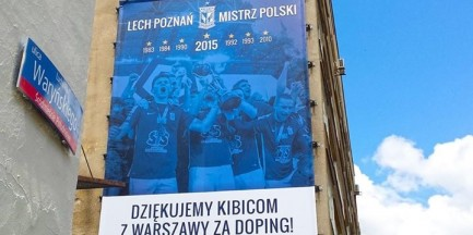 Nowy piłkarski mistrz Polski dziękuje za doping kibicom z Warszawy