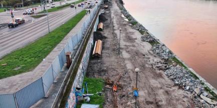 Jaskółki wstrzymały budowę bulwaru nad Wisłą