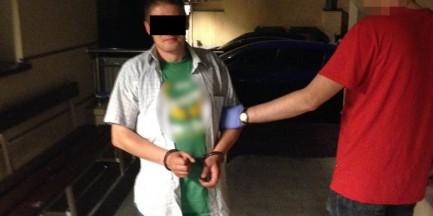 Groził nożem pracownikowi hotelu, później wywołał alarm bombowy