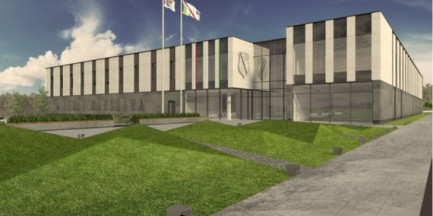 Wizualizacja nowego ośrodka treningowego Akademii Piłkarskiej Legii Warszawa