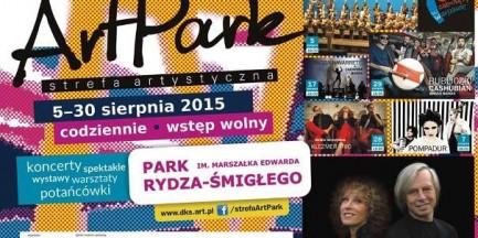 Codzienne spotkania z kulturą w parku im. Rydza-Śmigłego. Startuje ArtPark 2015