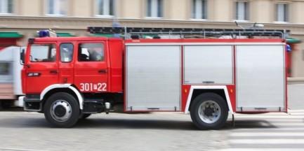 Pożar na dziewiątym piętrze bloku przy Rzymowskiego