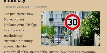 """Paryż - całe miasto objęte strefą """"Tempo 30"""". Z cyklu """"Ciekawostki z innych stolic"""""""