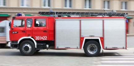 Pożar autobusu miejskiego w Ursusie
