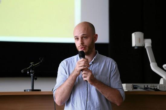 Jan Śpiewak podczas spotkania poświęconemu reprywatyzacji. Fot. Adam Stępień/Agencja Gazeta