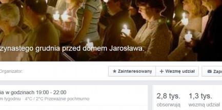 """""""13 grudnia przed domem Jarosława"""". Milczący protest przeciw działaniom władz"""