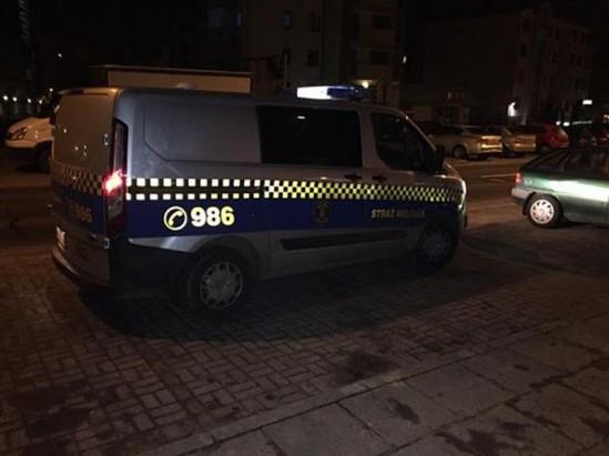 Radiowóz straży miejskiej. Zdjęcie pana Pawła