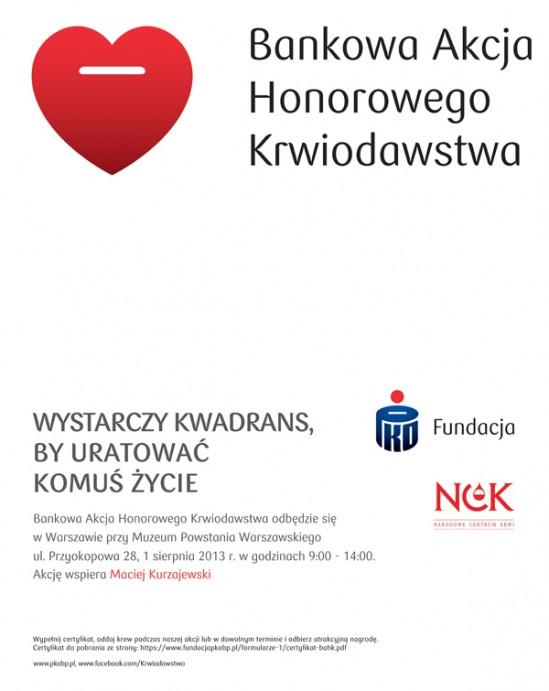 Oddaj krew przed Muzeum Powstania Warszawskiego