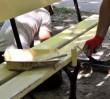 Na Bielanach skradziono nowe ławki. ZOM prosi o pomoc