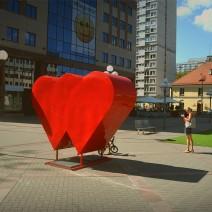 """Na Woli pojawiły się wielkie serca. """"W sercu Woli"""""""""""
