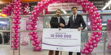 10-milionowy pasażer obsłużony na Lotnisku Chopina w tym roku