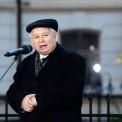 Jarosław Kaczyński pod Pałacem Prezydenckim. Fot. PAP/Jacek Turczyk