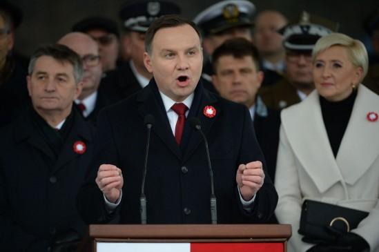 Prezydent Andrzej Duda podczas obchodów święta 11 listopada. Fot. Jacek Turczyk/PAP