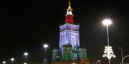 Pałac Kultury w barwach Legii