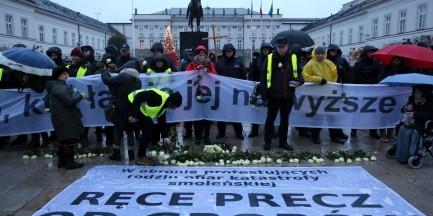 Przepychanki pod Pałacem Prezydenckim. Będzie zawiadomienie o przestępstwie