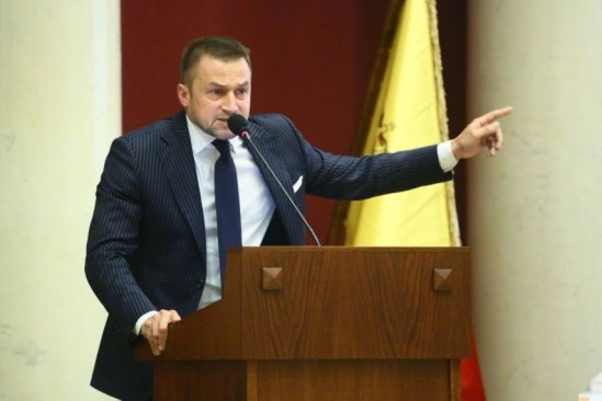Piotr Guział, lider Warszawskiej Wspólnoty Samorządowej. Fot. Leszek Szymański/PAP