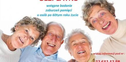 Za darmo: badania pamięci dla osób 60+