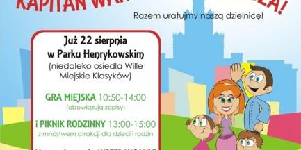 Kapitan Warszawa w walce ze złem. Rusza rodzinna gra miejska