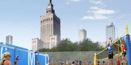 Powstaje plaża w centrum Warszawy